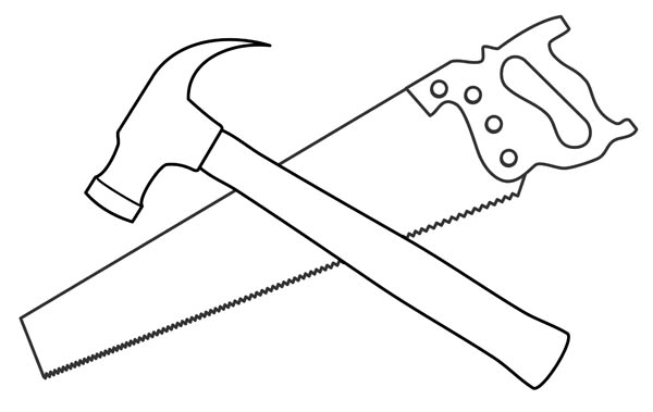 Tool Clip Art Black And White.