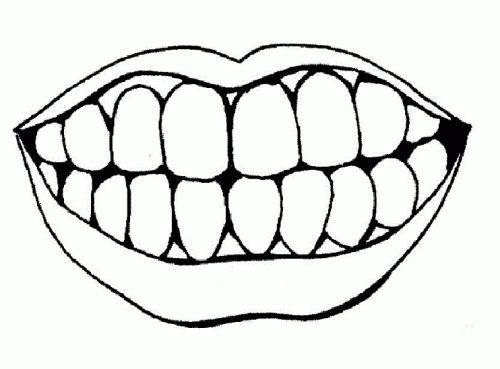 Tooth Clipart Black And White.