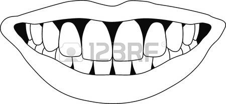 Teeth clipart black and white 5 » Clipart Station.