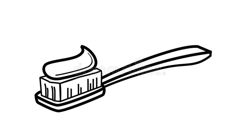 Toothbrush Icon Stock Vector. Illustration Of Paste, Graphic.