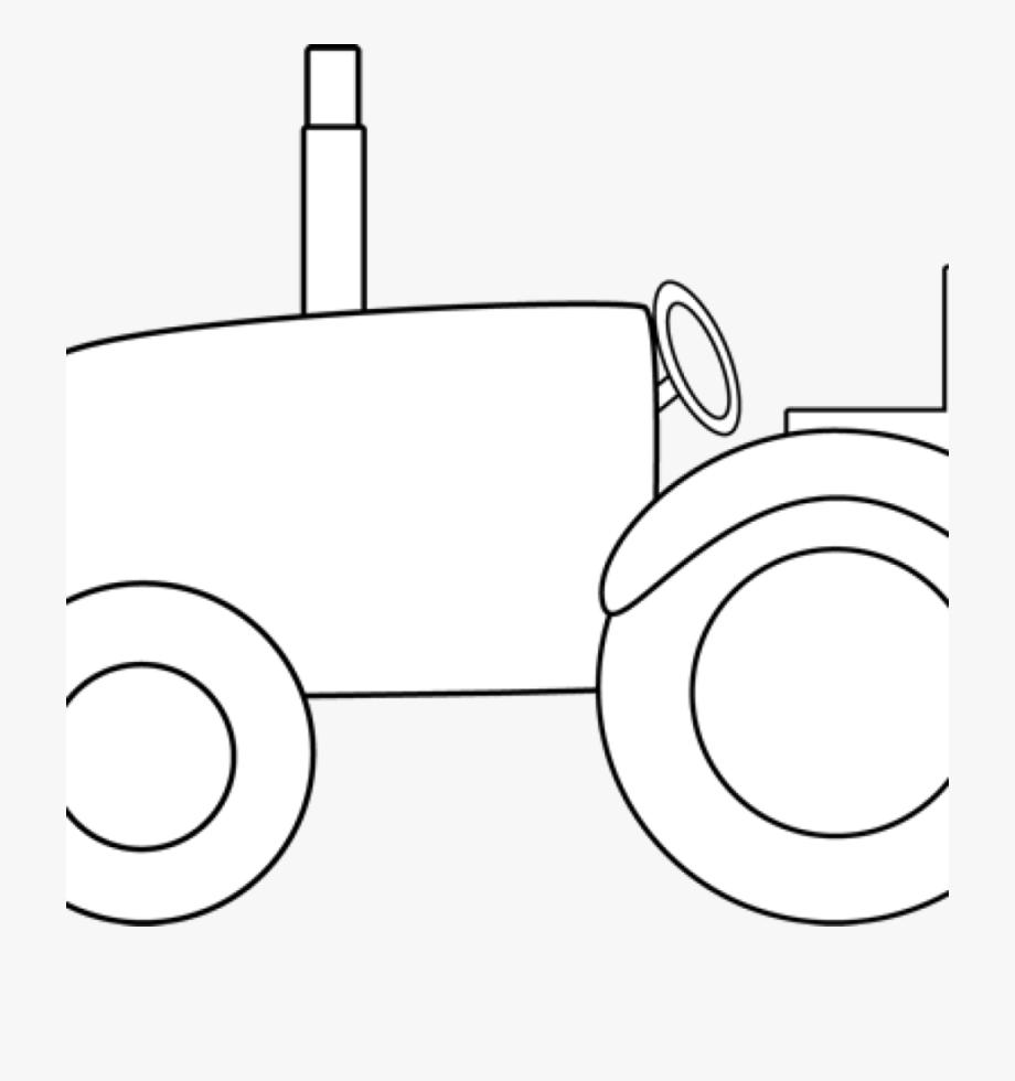 Black And White Tractor Clipart John Deere Tractor.