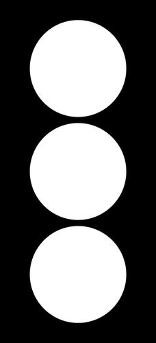Traffic light indicator silhouette.