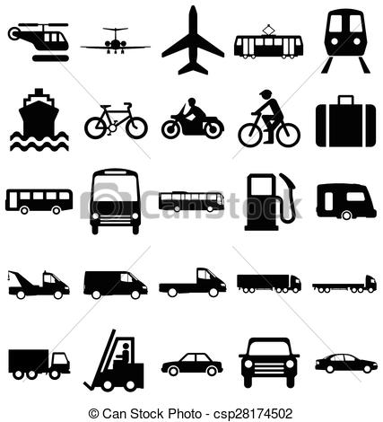 Transportation clipart black and white 3 » Clipart Station.