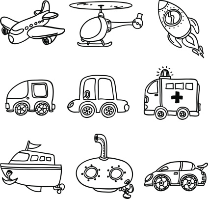 Transportation Clipart Black And White (100+ images in Collection.