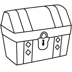 Treasure Box Clipart Black And White.