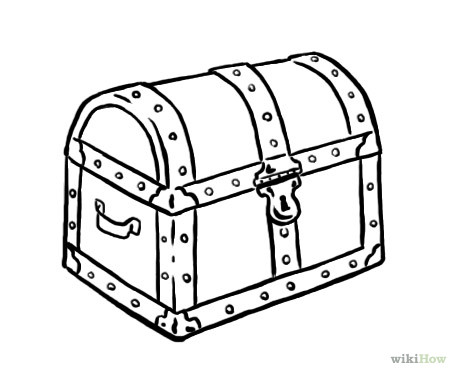 Treasure chest clipart black and white » Clipart Station.