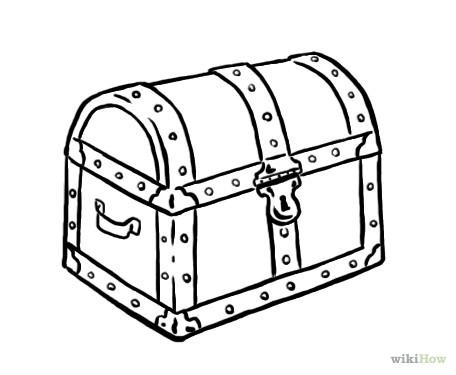 Treasure chest clipart black and white » Clipart Station.