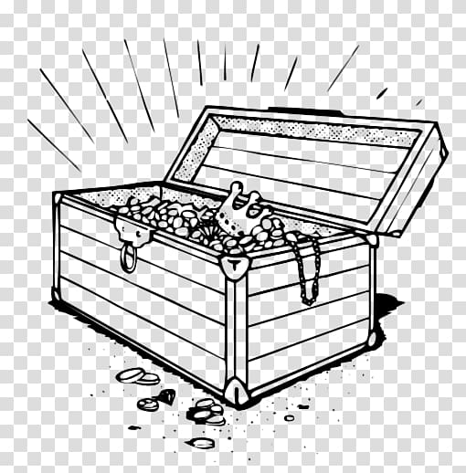 Buried treasure , treasure chest transparent background PNG.