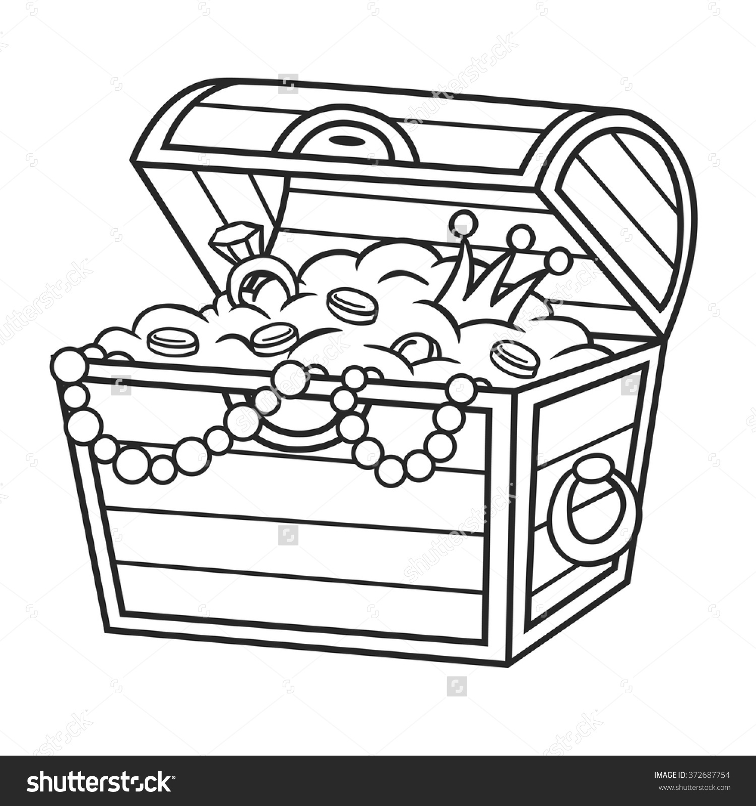 Treasure chest clipart black and white 3 » Clipart Station.