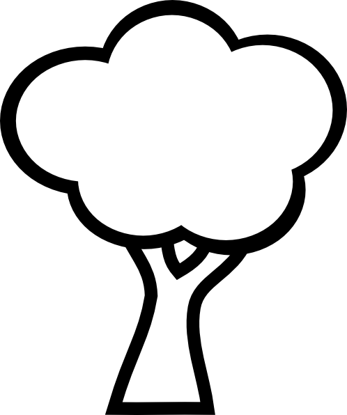 Black And White Tree clip art.
