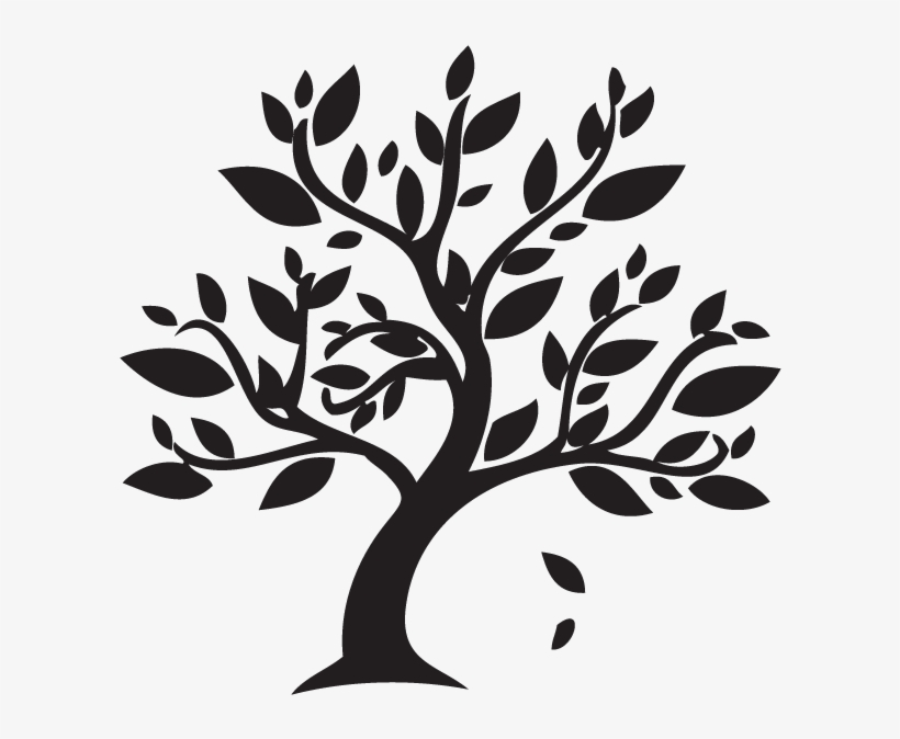 Download Free png Branch Clipart Autumn Leaves Black And White Tree.
