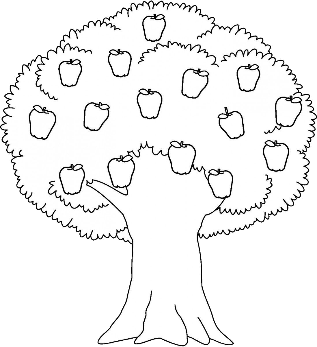 Apple Tree Black And White Trees Clipart Transparent Png.