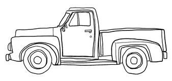 Image result for pickup truck clipart black and white.