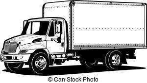 Black and white truck clipart 1 » Clipart Portal.