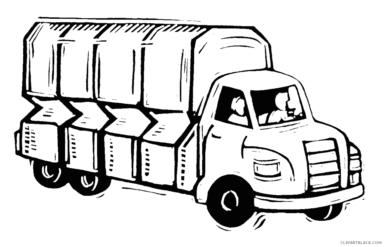 Best Free Moving Truck Clipart Black And White Images » Free Vector.
