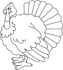 turkey clipart free black and white.