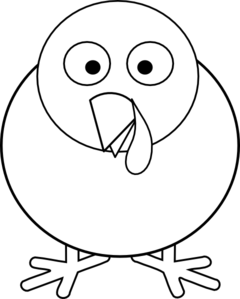 Turkey Clipart In Black And White.