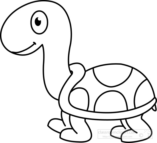 Turtle Clipart Black And White Top Original 12.