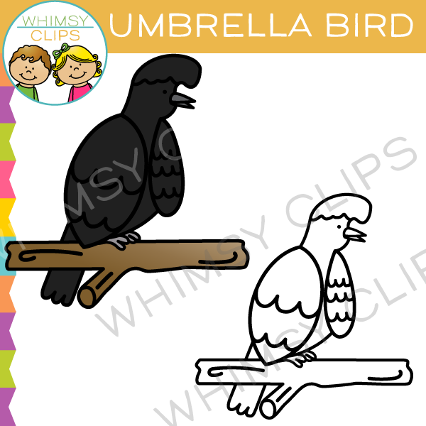 Umbrella Bird Clip Art.