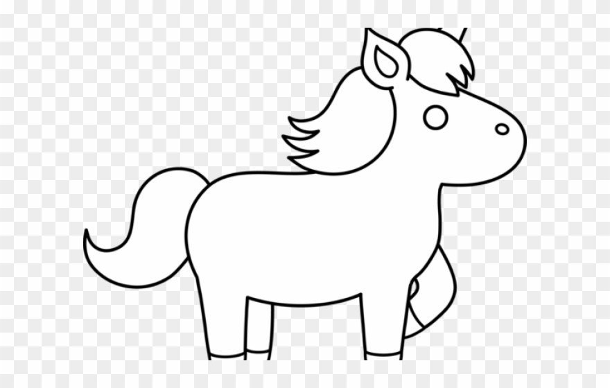 Unicorn Clipart Black And White.
