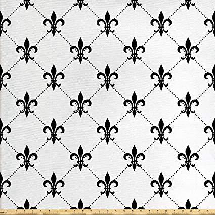 Amazon.com: Ambesonne Fleur De Lis Fabric by The Yard.