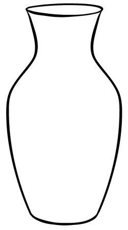 1819 Vase free clipart.
