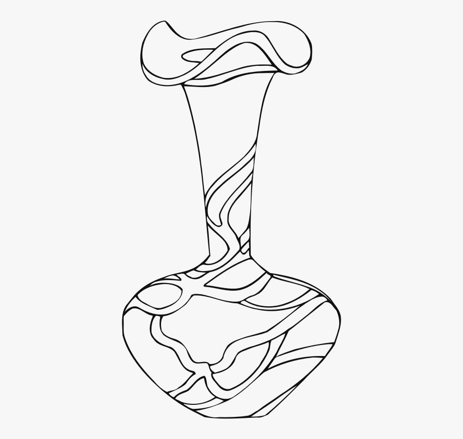 Clipart Black And White Vase , Transparent Cartoon, Free.
