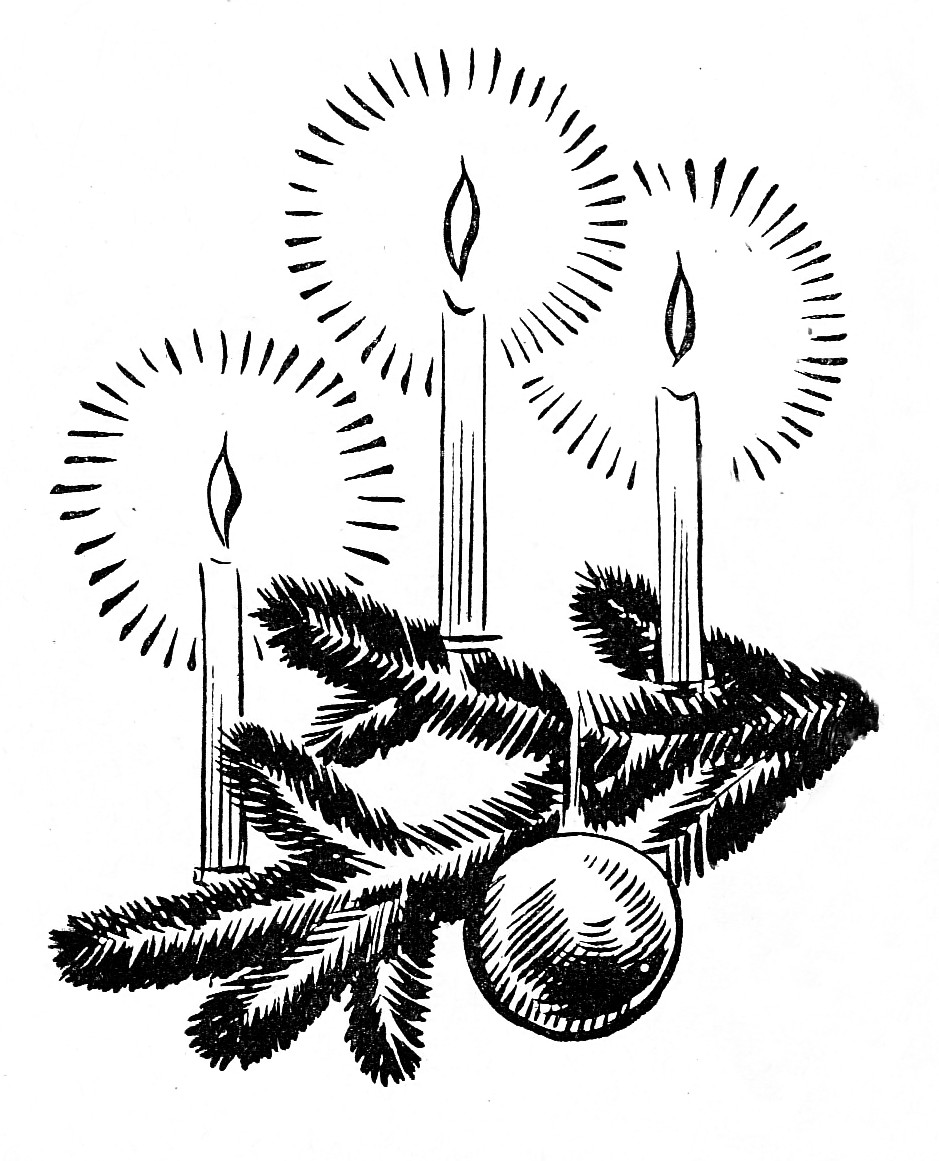 black and white vintage christmas clip art - Clipground