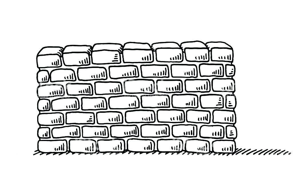 Wall clipart black and white 5 » Clipart Station.