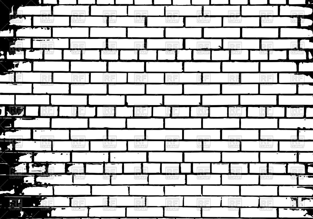 Brick Wall Clipart Black And White.