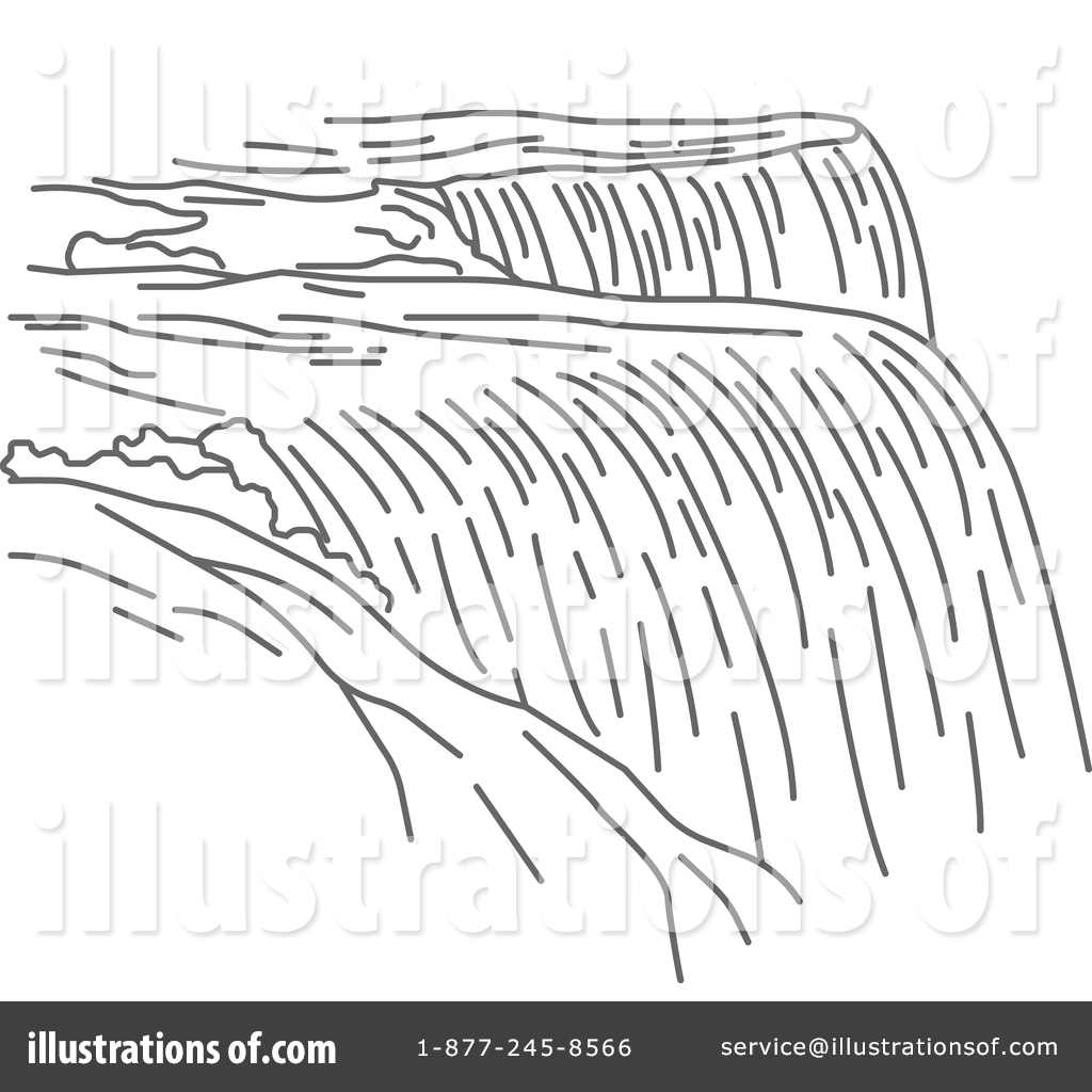 Waterfall clipart black and white 13 » Clipart Station.