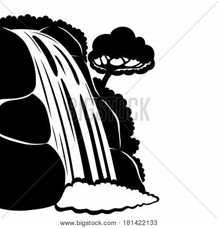 Waterfalls clipart black and white 8 » Clipart Station.