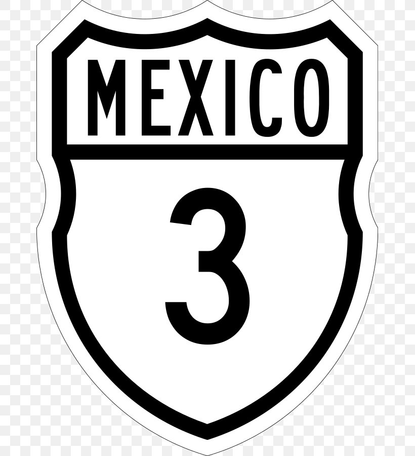 Mexican Federal Highway 3 Clip Art Brand Whisky Black.