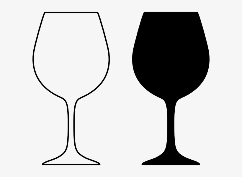 Wine Glass Silhouette Black And White Clip Art At Clker.