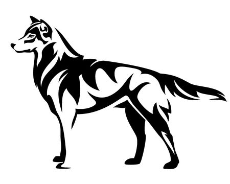 6,722 Black Wolf Cliparts, Stock Vector And Royalty Free Black Wolf.
