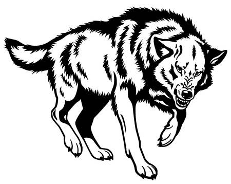 Black And White Wolf Clipart (83+ images in Collection) Page 1.