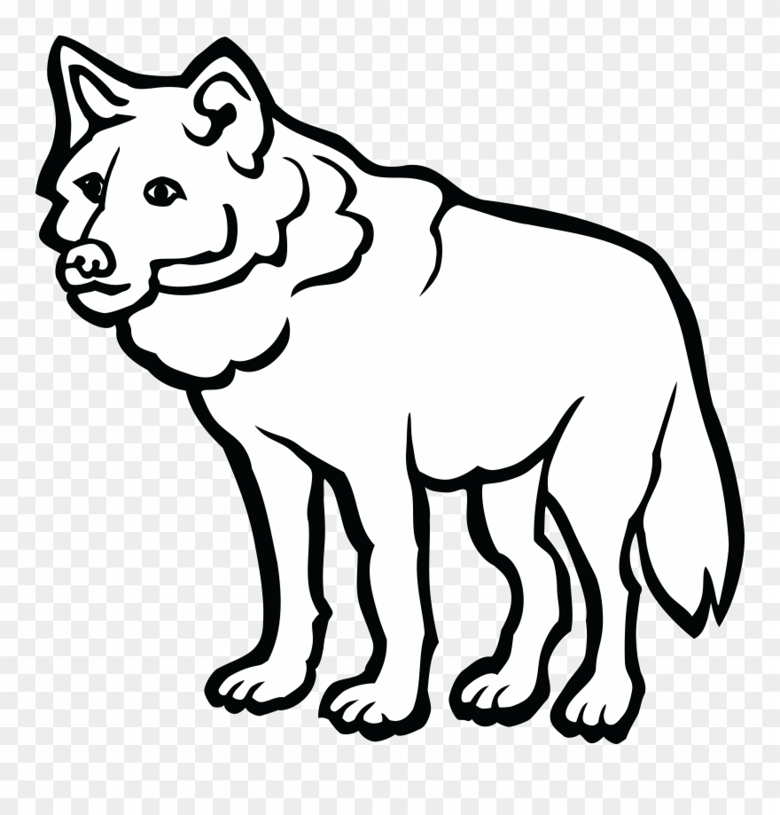 Free Clipart Of A Wolf.