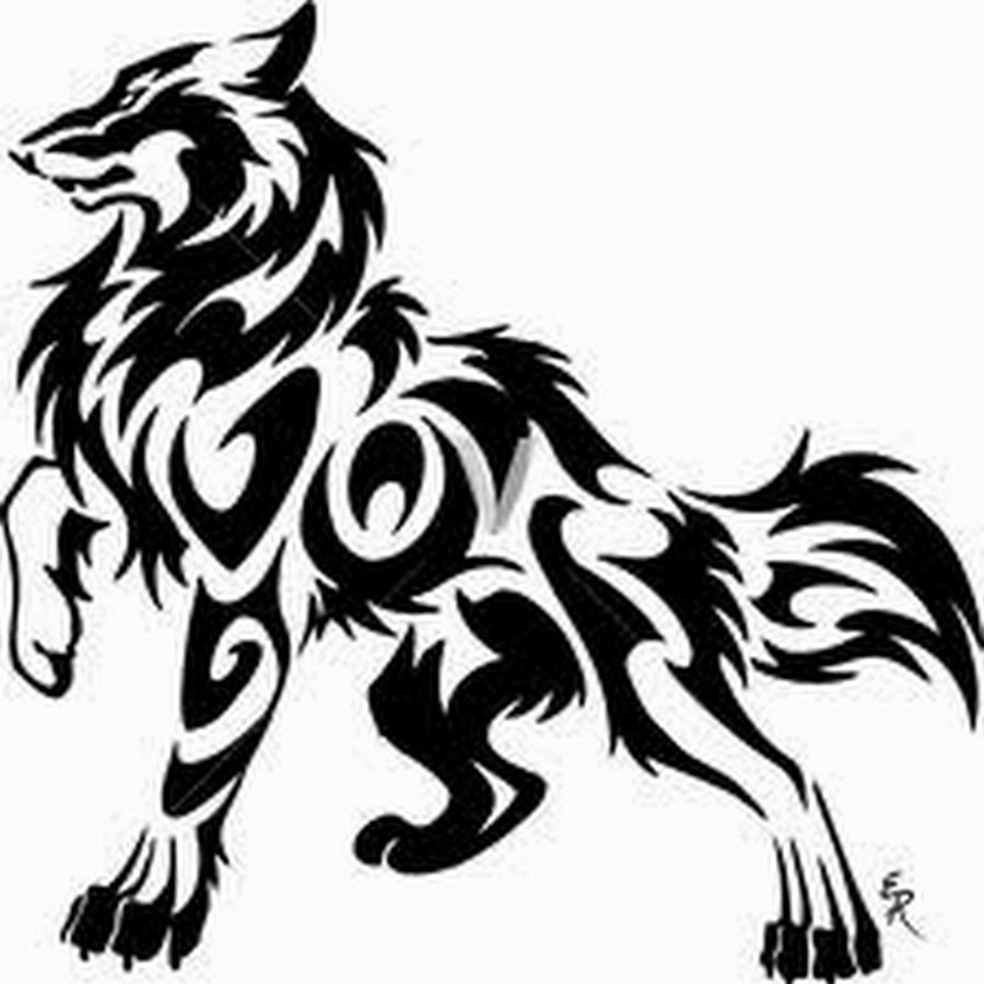 Black And White Wolf Drawing.