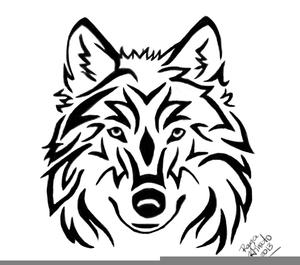 Wolf Clipart Black White.