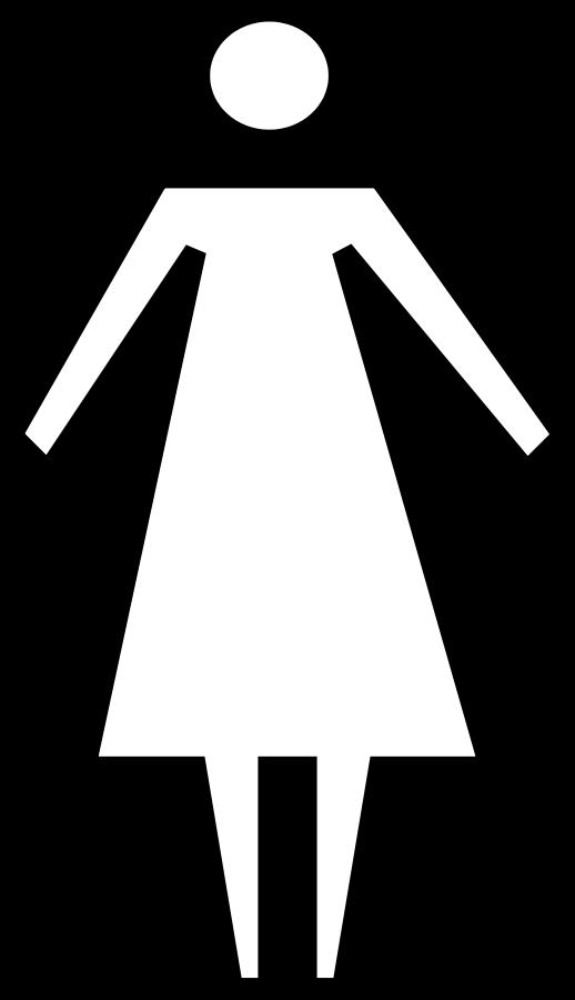 Female clipart black and white, Female black and white.