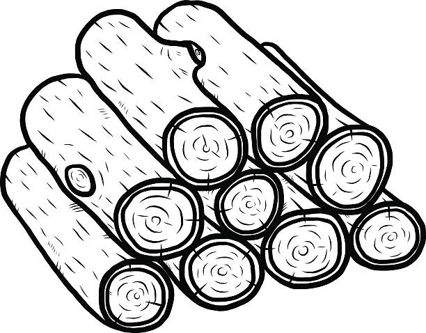 Log Pile Clipart.