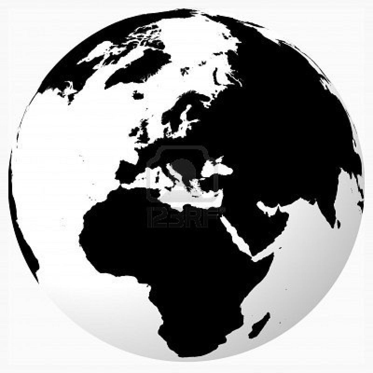 Free Black And White World Png, Download Free Clip Art, Free Clip.