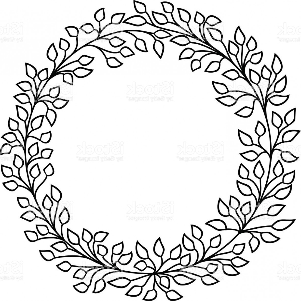 Floral Wreath Clipart Black And White (102+ images in Collection) Page 1.