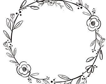 Black and white wreath clipart 3 » Clipart Portal.