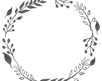 Wreath Clipart Black And White (96+ images in Collection) Page 1.