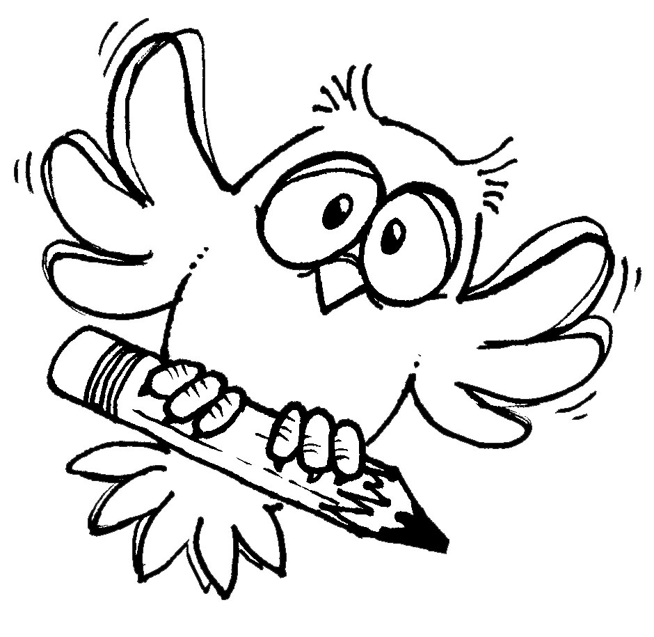 Free Writing Clipart Black and White Image.