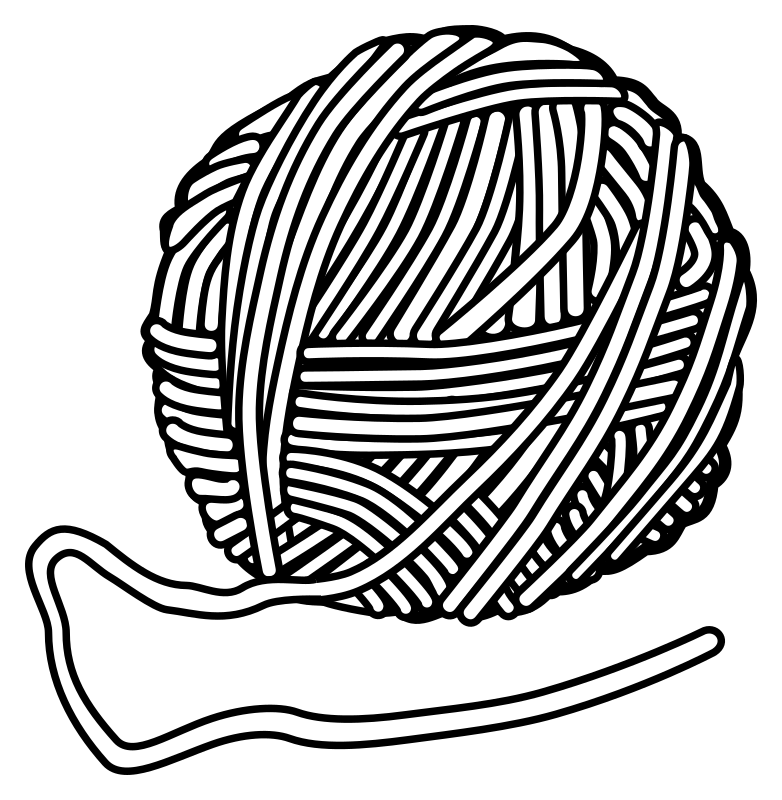 Yarn black and white clipart 4 » Clipart Station.