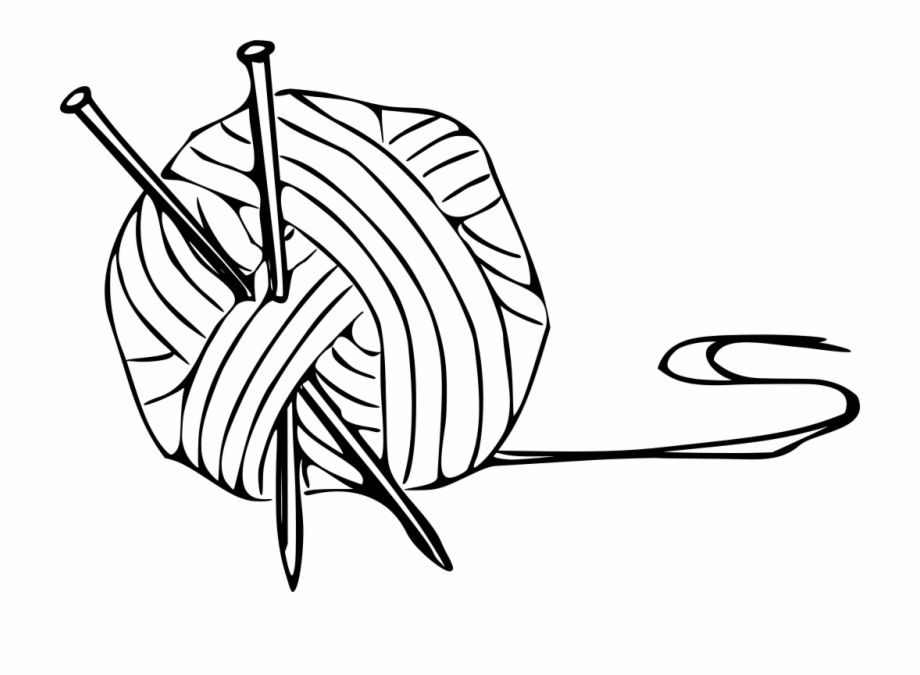 Free Yarn Clipart Black And White, Download Free Clip Art.