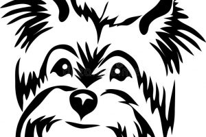 Yorkie clipart black and white 6 » Clipart Station.
