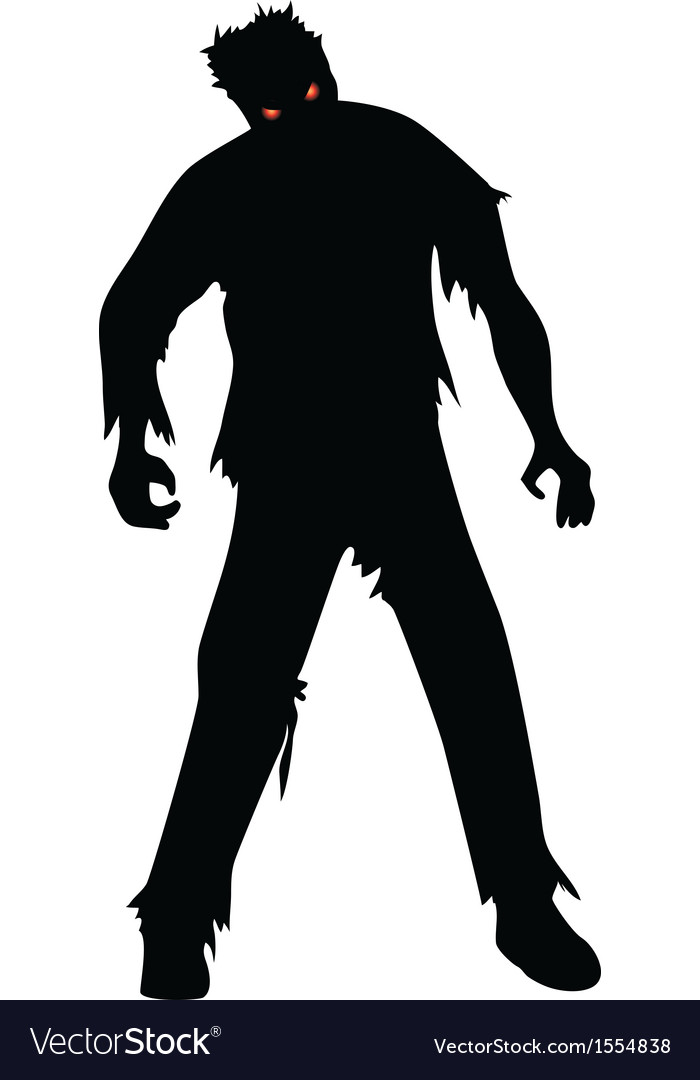 Zombie isolated on white.